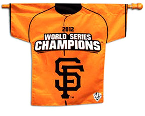 (Rico Industries, Inc. San Francisco Giants PV FD 2012 Champions Premium 2-Sided Jersey Style Banner Outdoor House Flag Baseball)