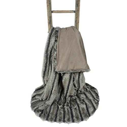 Alaskan Ash Luxury Faux Fur Throw Blanket (94 x 55 inches)
