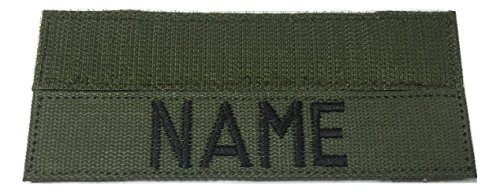 US ARMY Name Tape or US ARMY Tape, with Fastener, ACU, Multicam OCP, Black, OD Green, Desert Tan, White (OD Green) (Desert Cam)