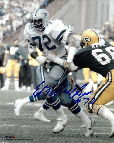 """Ed""""Too Tall"""" Jones signed Dallas Cowboys 8x10 Photo #72 (vs Packers) - Autographed NFL Photos"""