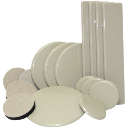 Move In Surface Protection Starter Kit, Reusable Sliders, Door Stops, Bumpers & Felt – 61 Pieces