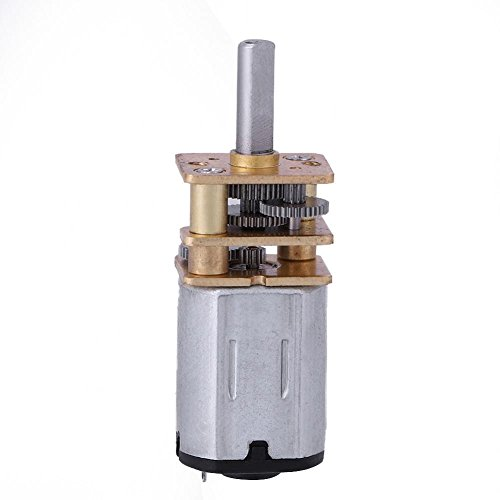 Wal front DC 6V 100 RPM Speed Reduction Gear Motor Metal Gearbox N20 3 MM Shaft Diameter × 10 MM Shaft Length DIY Electric Toys Robots