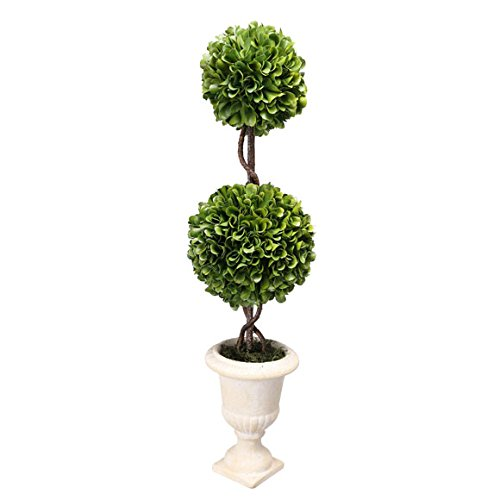 Sphere Topiary Double - A&B Home Faux Boxwood Topiary Plant Double Sphere D5 x18