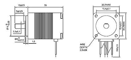 Amazon.com: Micro motor paso a paso paso Motor NEMA 8 ...