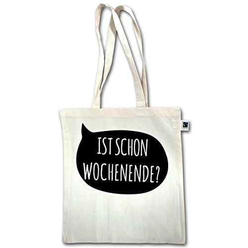 Camicie Da Uomo - È Già Weekend? - Unisize - Natural - Xt600 - Manico Lungo In Juta Bag