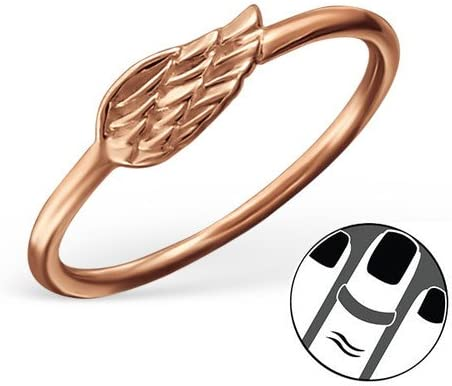 Caratera 925 Sterling Silver Wing Midi Ring