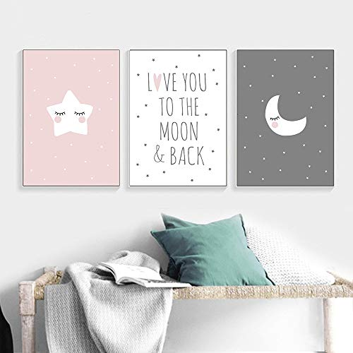 - UrbanStyle Boutique Premium Nursery Modern Art Canvas Prints (Set of 3-UNFRAMED) 12