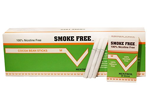 ((Carton 10 Packs) Made in USA Since 1998 100% Nicotine Free(Cocoa Bean Cigarettes) Menthol Flavor)