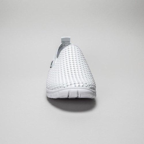 Blanco sintéticos Mocasines mujer Holees originales para XHqq4pP