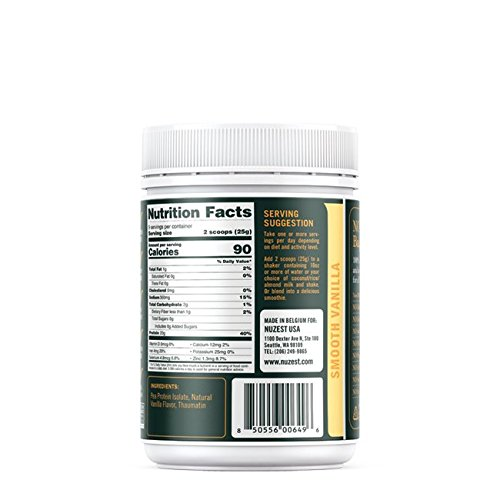 Nuzest Clean Lean Protein - Premium Pea Protein Powder, Plant-Based, Vegan, Dairy Free, Gluten Free, GMO Free, Naturally Sweetened, Smooth Vanilla, 9 Servings, 7.9 oz
