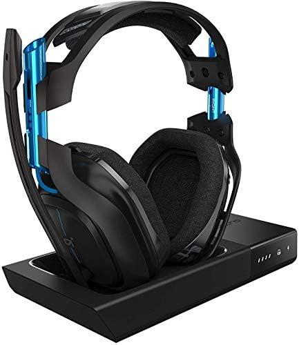 ASTRO Gaming, casque sans fil A50 + station d'accueil 3e Génération avec son surround Dolby 7.1 Compatible Playstation 4, PC, Mac NoirBleu