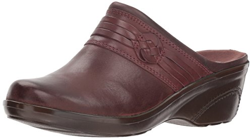 Clarks Women's Marion Jess Clog, Mahogany Leather, 10 W US