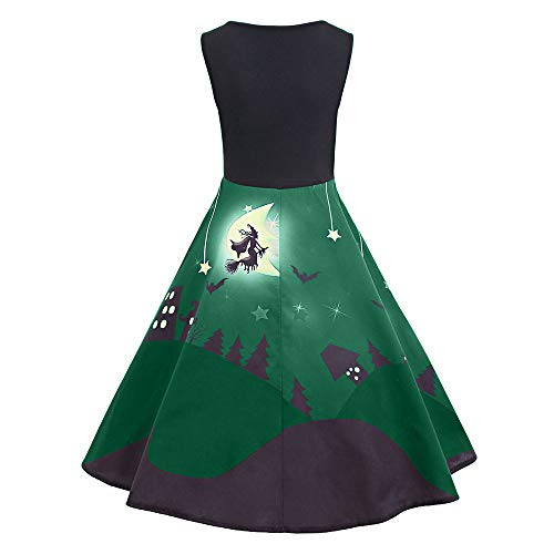 kaifongfu Long Dress,Women Sleeveless Halloween Evening Party