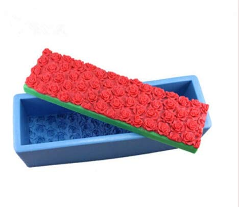 New Edify Rose Flowers Silicone soap Mold Fondant - Cake Direction Silica Gel soap molds Handmade soap Mold