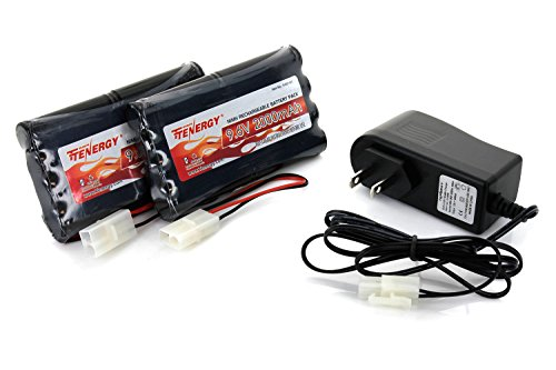 Rc Cars Batteries (2pcs 9.6V 2000mAh NiMH Battery Packs for RC Car, Robots, Security + Simple Pack Charger)