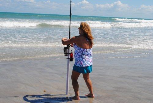 Surf Fishing Sand Spike Rod Holder Clamp On Drink Holder