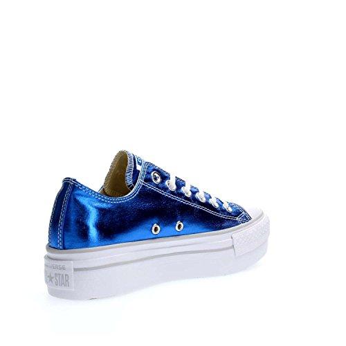 5 CONVERSE SNEAKERS PLATFORM 36 BLUE METALLI BLUE Femme 556786C OX CT SSqwRTO