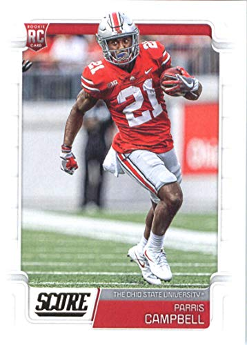 2019 Score Football #351 Parris Campbell Ohio State Buckeyes Rookie RC Official NFL Trading Card made by - Card Rookie Campbell