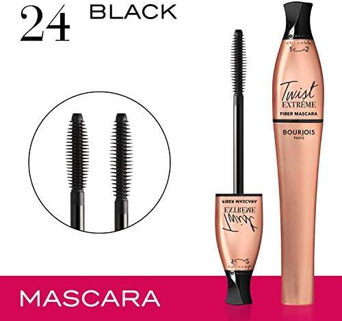 Bourjois Twist Extreme Fiber Mascara 24 Black, 8 ml: Buy Online at