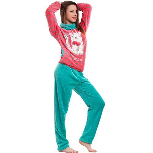 Toocool - Pijama - para mujer verde agua