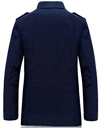 chaqueta hombre YYZYY para Abrigo Verde Ejercito 8vxqzwpx7