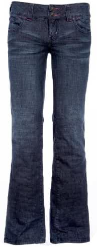 Womens Jeans Ladies Pants Strechy Boot Cut Trousers Bootleg Faded Blue US 6-14