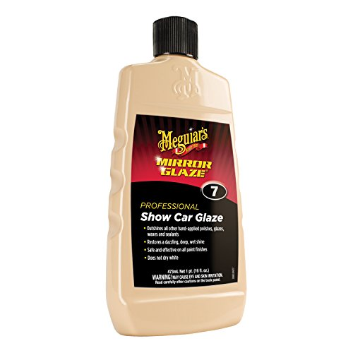 Meguiar's Mirror Glaze Show Car Glaze - Exceptional Polish Restores a Deep Wet Shine - M0716, 16 oz (16 Ounce Team Color)