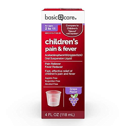 Basic Care Acetaminophen Children's Pain Reliever Oral Suspension Liquid, 4 ()