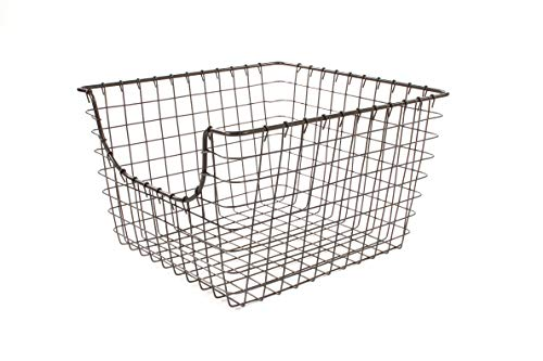 (Spectrum Diversified Scoop Wire Storage Basket, Medium, Industrial Gray)