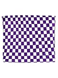 HUILAN Women's Sleeveless Plaid Sexy Strapless Checkered Bandeau Tube Crop Tops Purple S