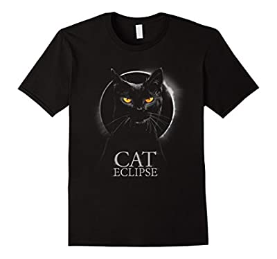 Black Cat - Total Solar Eclipse Funny T-Shirt