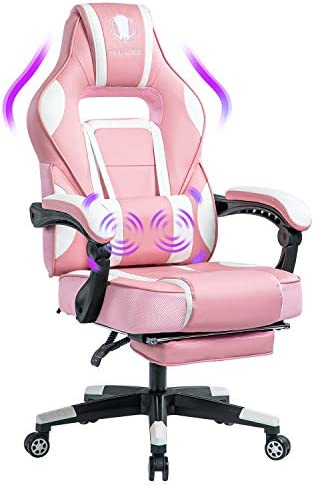 KILLABEE Massage Gaming Chair Racing Computer Desk Office Chair High-Back Swivel Recliner Chair