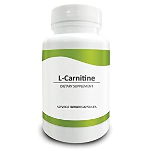 Pure Science L-Carnitine 500mg - Brain-Specific Dietary Supplement Offers Antioxidant Protection to the Nervous System & Protect Brain Cells from Age-related Cognitive & Memory Decline, Optimize Cellular Energy Production & Weight Loss - 50 Vegetarian Capsules by Pure Science