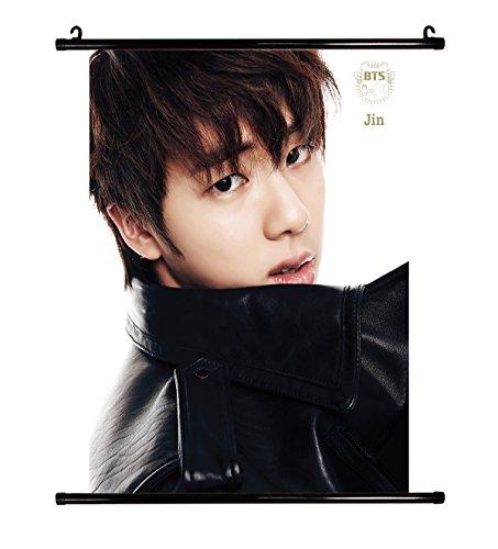 BTS kpop Bangtan boys wall scroll cloth poster with lomo cards
