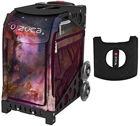 Z?CA INC Zuca スポーツバッグ - ギャラクシー ギフト付き ブラック/ピンク シートカバー (ブラック非点滅ホイールフレーム)