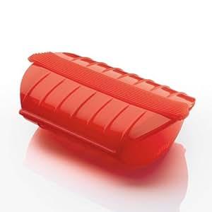 Vapor Lekue con bandeja para 1 A 2 personas, rojo, jardín, césped, Mantenimiento