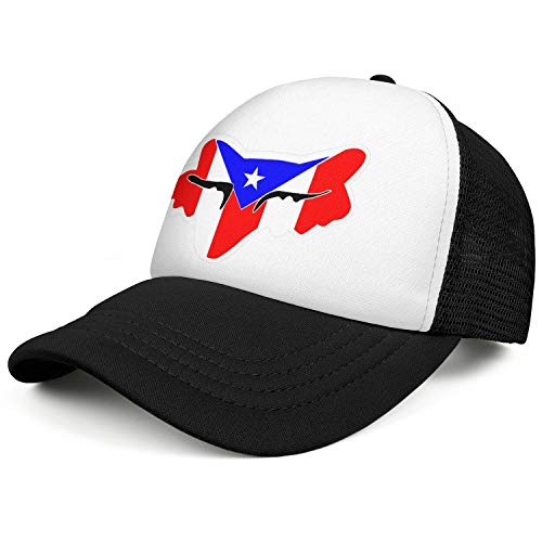 Unisex Fashion Baseball Cap Fox-Racing-Logo-Sticker- Snapbacks Truker Hats