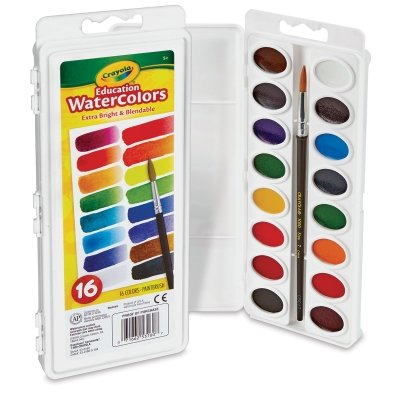 Crayola Oval Pans Watercolor Refills, Brown