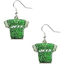 aminco NFL womens NFL Sports Team Jersey Dangle Glitter Earring Set