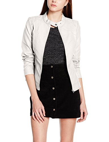 Femme Wind Leather Noos Blouson Vila Chime Faux Gris Jacket Viaya 8nSqwxYOa4