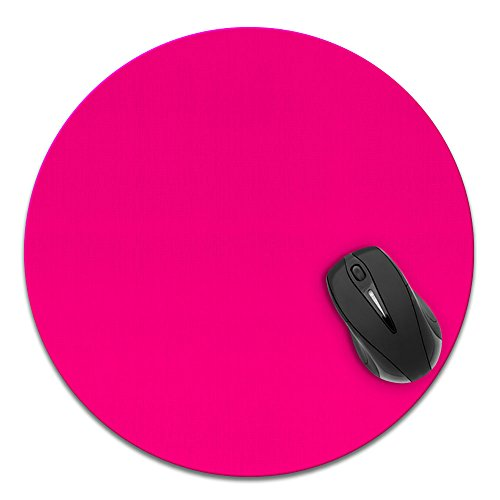 Pad Mouse Hot Super (Super Size Round Mousepad, FINCIBO Large Mouse Pad for Home, Office and Gaming Desk, Solid Hot Pink)