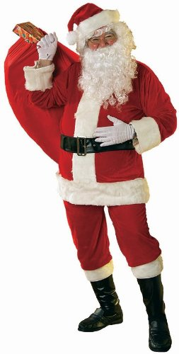 (RUBIE'S COSTUME COMPANY - Adult Mens Soft Velour Santa Claus Suit | Standard)