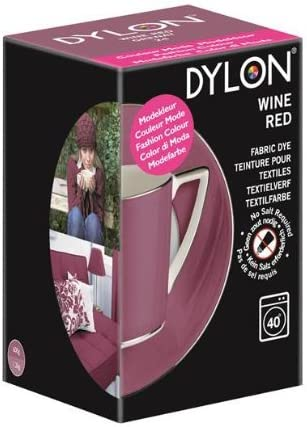 Dylon - Tinte para máquina Edición Limitada 350g - Rojo vino - Rojo, 1 Pack
