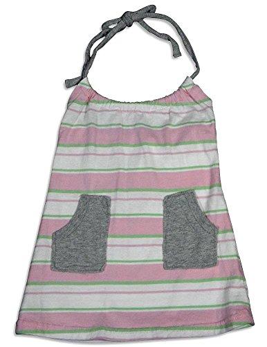 Halter Green Stripe (Dinky Souvenir - Baby Girls Stripe Halter Top, Pink, Green 25646-6-12Months)