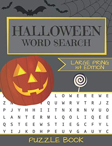 Halloween Word Search Puzzle Book: Large Print - 80 Halloween Puzzles (Edition/Volume 1)