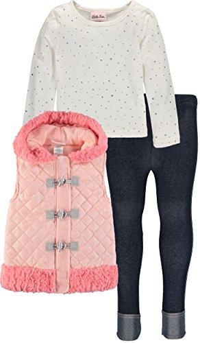 - Little Lass Girls' 3-Piece Faux-Fur Legging Set (4, Sequin Toggle)