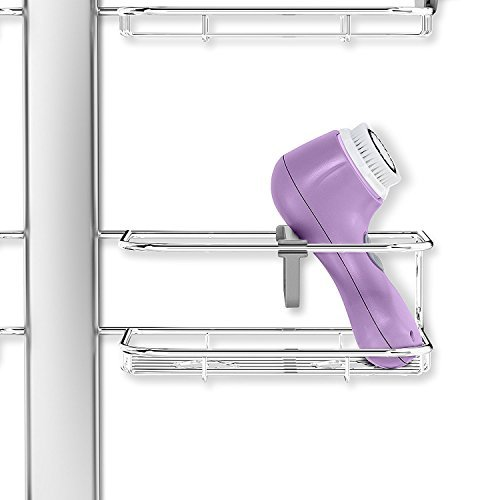 simplehuman Adjustable Shower Caddy XL, Stainless Steel + Anodized Aluminum