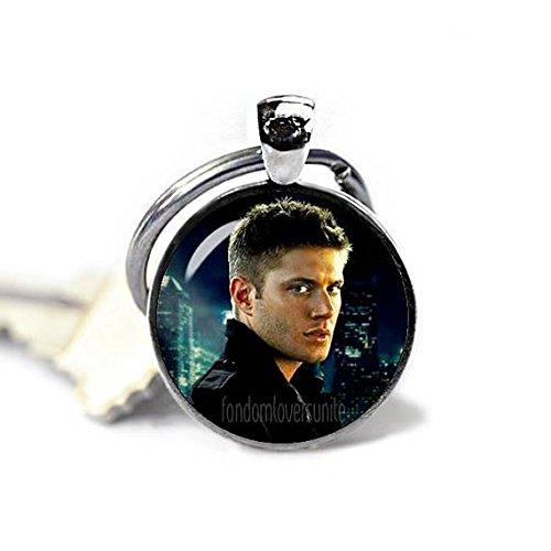 Huangwiglass Dean Winchester Key Ring Supernatural Keychain Dean Winchester Keyfob Keychain Geeky Fangirl Fanboy