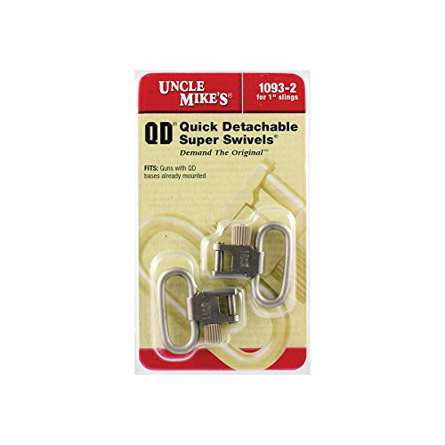 Uncle Mike's SS BL Nickel Quick Detach Sling Swivels