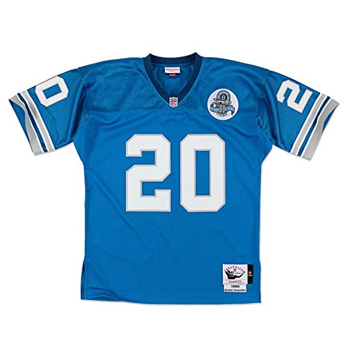 Mitchell & Ness Barry Sanders  #20 Detroit Lions Men's 1993 Retired Player Vintage Jersey - Blue (L)